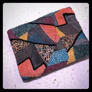 Beaded multi colored clutch / purse from Zara